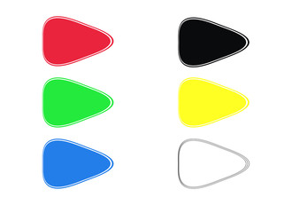 triangle buttons