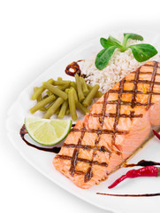 Roasted salmon fillets