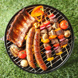 Tasty assortment of meat on a summer barbecue - 79026200
