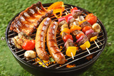 Fototapety Assorted grilled meat on a summer barbecue