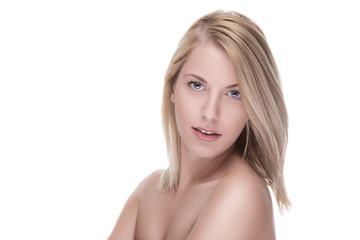 Portrait einer blonde Frau