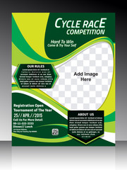 Cycle race Flyer template design