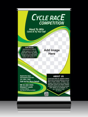Cycle race roll up template design