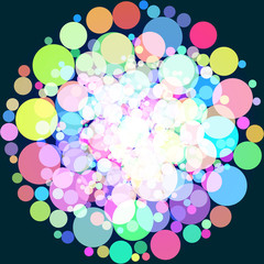 Abstract background with colorful circles. Raster 1