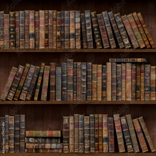 Keuken foto achterwand Noord Europa Books seamless texture. tiled with other textures in my gallery