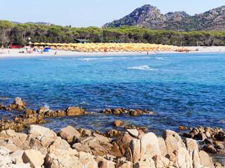 Landscape of Cala Ginepro beach in the gulf of Orosei Sardinia I