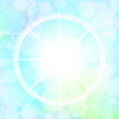 Star with bokeh effect. Raster 1