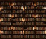 Fototapety Bookshelf. Seamless texture (vertically and horizontally)