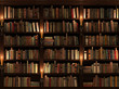 Leinwanddruck Bild - Bookshelf. Seamless texture (vertically and horizontally)