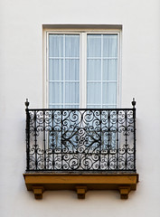 Balcony of a house in Seville