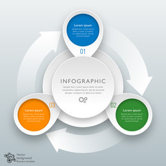 Infographics Vector Background #3-Sep Process
