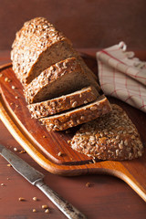 healthy whole grain bread with carrot and seeds