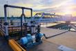 Leinwandbild Motiv big tank of water supply in metropolitan waterworks industry pla