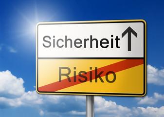 Wegweiser Sicherheit Risiko