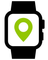 Current location in smartwatch icon