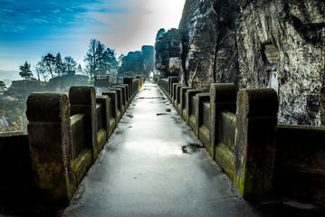Basteibrücke der Felsenburg in der Sächsischen Schweiz