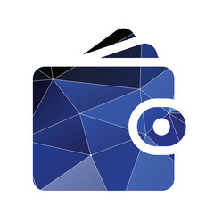 Wallet icon Abstract Triangle.