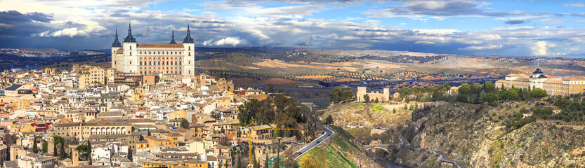beautiful panorama of Toledo, Spain