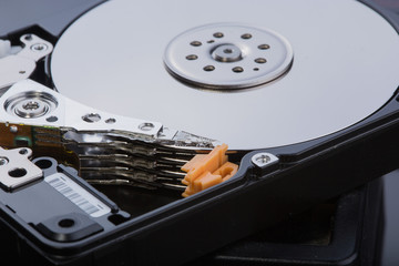 hard disk with moving head.
