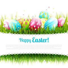 Sweet Easter greeting card with place for your message