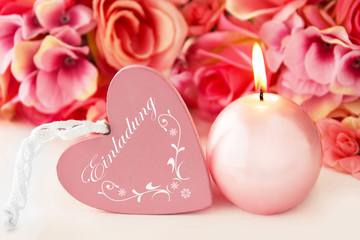Herz und Kerze