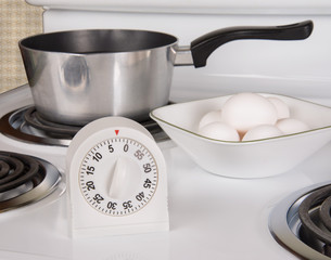 Boiling Eggs on stove
