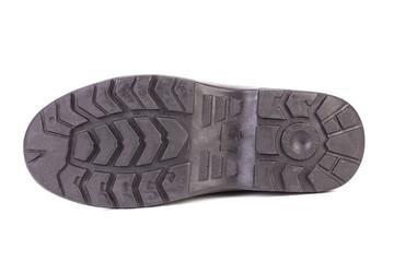 Black shoe sole.