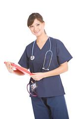 Nurse: Nurse Holding Clipboard