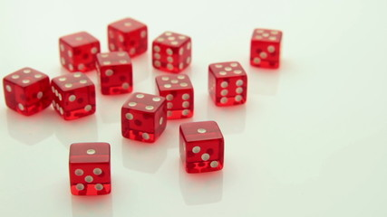 arrangement of red dice tracking
