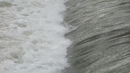 slow motion waterfall , flowing water