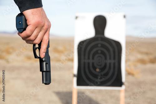 Leinwanddruck Bild Target shooting
