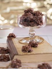Schokoladenkonfekt in einem Glas