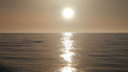 Sunset timelapse on the Black sea near Batumi, Georgia