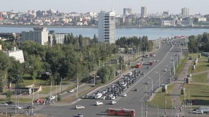 Intersection of city streets. Kazan, Tatarstan