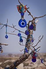 Turkish Evil Eye on a Tree