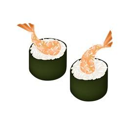 Ebi Tempura Sushi Roll or Fried Shrimp Maki