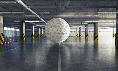 sphere in the parking