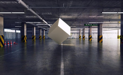 cube in the parking