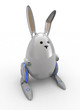 Easter Egg Bunny Robot