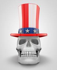 Skull Wearing Uncle Sam Hat
