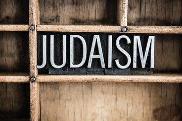 Judaism Concept Metal Letterpress Word in Drawer