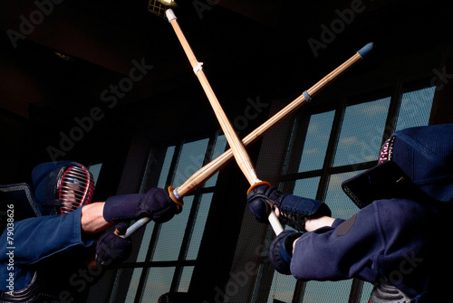 Fotobehang Stierenvechten Kendo fighting