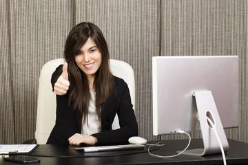 businesswoman say ok