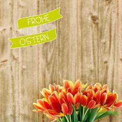 frohe ostern tulpen