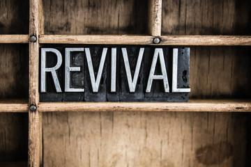Revival Concept Metal Letterpress Word in Drawer