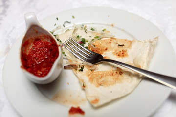Leftovers of kebab