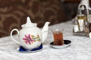 Teapot with teacup
