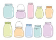 Vector colorful glass jars - 79041082