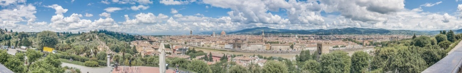 Florence as seen from Michelangelo Square, Tuscany, Italy