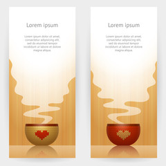 Backgrounds with cup